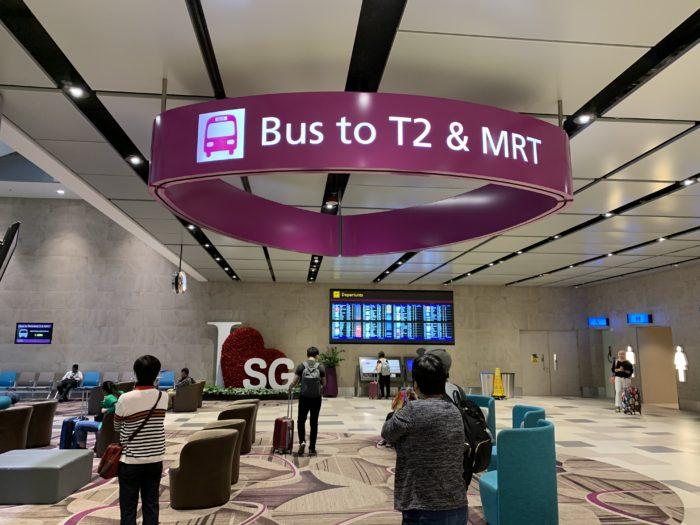 チャンギ空港 無料バス