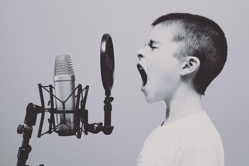 a yelling boy