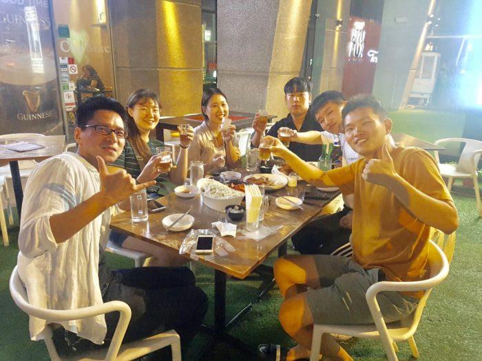 韓国人グループとの食事